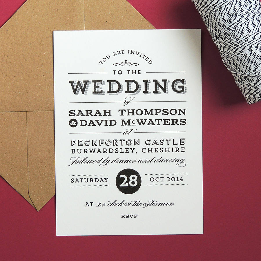 frankie vintage style wedding invitation by project pretty ...