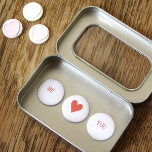 Valentine's Love Message Magnet Tin - storage & organising