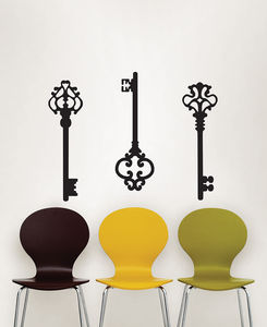 Ornate Key Wall Stickers - wall stickers