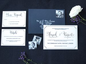 Connaught Foiled Wedding Invitation Suite