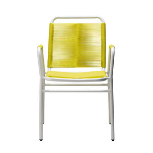 Aluminium Garden Chair In Yellow And White