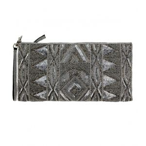 Large Beaded Clutch Bag - statement sparkle