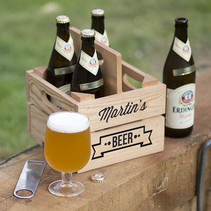 Personalised Beer Holder - 40th birthday gifts