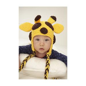 Giraffe Hand Crochet Infant Hat - children's accessories