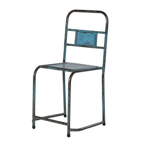 Distressed Metal Chair In Three Colours - furniture