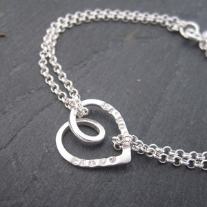 Personalised Eternal Heart Bracelet - charm jewellery