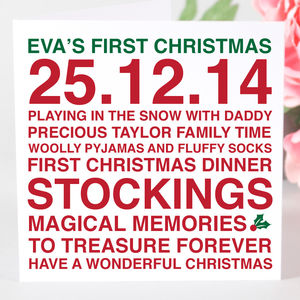 Personalised Baby's First Christmas Card - view all sale items