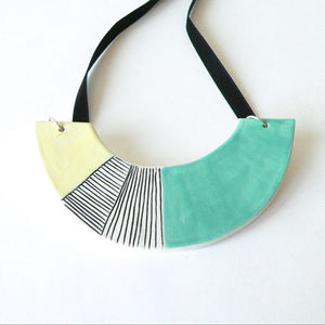 Ceramic Geometric Statement Necklace