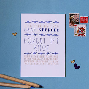 Forget Me Not Personalised Card