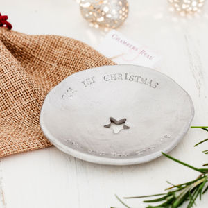 Personalised Christmas Trinket Bowl - cufflink boxes & coin trays
