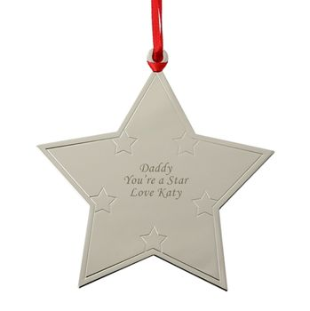 Personalised Polished Metal Star Decoration