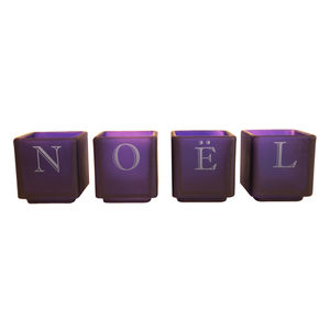 Noël Chrismtas Tealight Set Of Four - candles & candlesticks