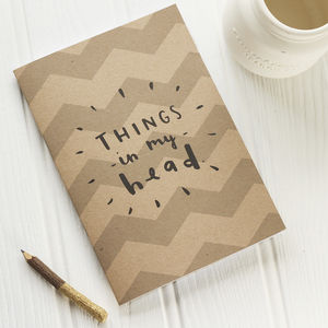 Things In My Head Notebook