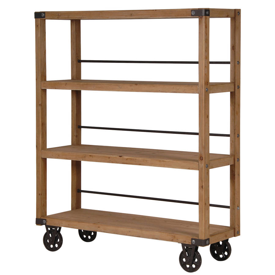 industrial wheeled shelving unit by out there interiors. Black Bedroom Furniture Sets. Home Design Ideas