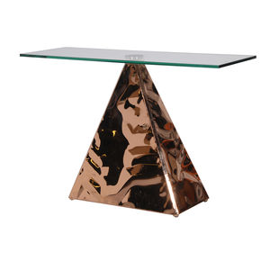Pyramid Console In Copper - side tables