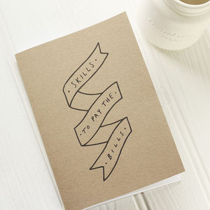 Skills To Pay The Bills Notebook - stationery-lover