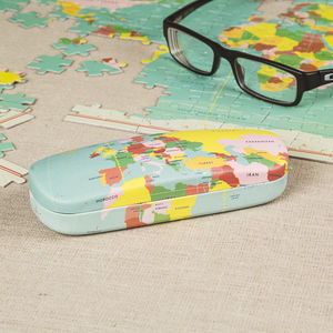 World Map Glasses Case - glasses cases