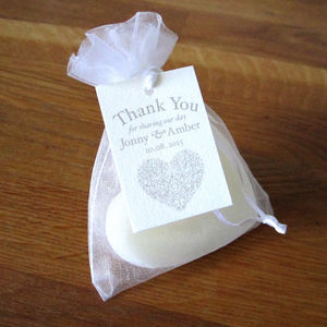 Personalised Heart Vintage Style Favour Tag - wedding stationery