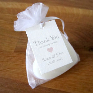 Personalised Heart Favour Tag - wedding favours