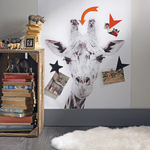 Giraffe Printed Magnetic Wallpaper - home decorating