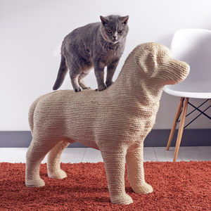 Dog Shaped Cat Scratching Post - toys