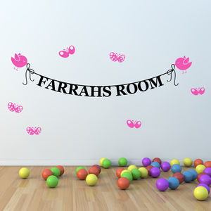 Personalised Name Banner Wall Stickers - wall stickers