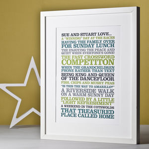 Personalised Couples 'Likes' Poster Print - for your other half