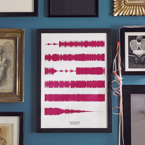 Personalised Favourite Song Soundwaves Print - as seen on tv and in the press