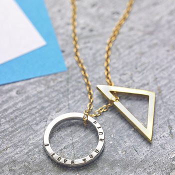 Personalised Geometric Necklace