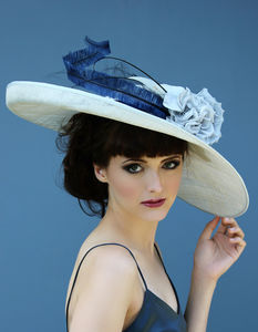 Elegant Large Brimmed Hat - hats & fascinators
