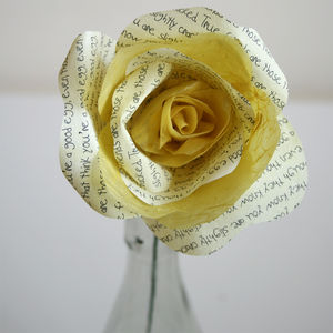 Friendship Storyteller Paper Rose