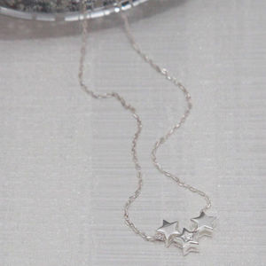 Triple Star Sterling Silver Necklace - necklaces & pendants