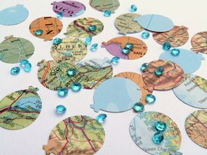 Balloon Map Table Confetti - occasional supplies