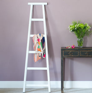Coloured Wood Towel Ladders - bathroom