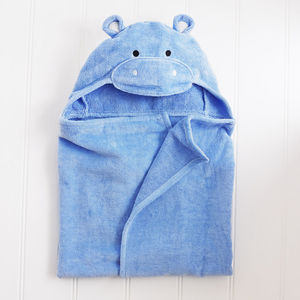 Hippo Baby Hooded Towel - bath and bedtime gift ideas