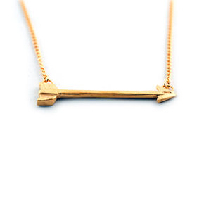 Gold Arrow Necklace - necklaces & pendants