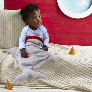 Knitted Shark Sleeping Bag - view all gifts for babies & children