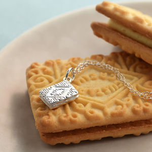 Silver Custard Cream Necklace - necklaces & pendants