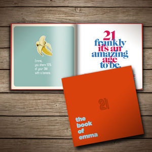 Personalised 21st Birthday Book Of Anyone