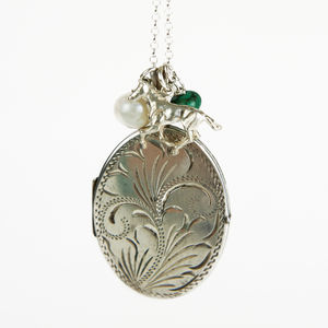 Extra Large Vintage Silver Locket Necklace - necklaces & pendants