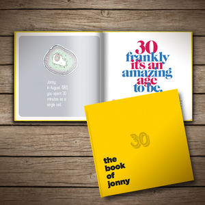 Personalised 30th Birthday Book Of Everyone - keepsake books