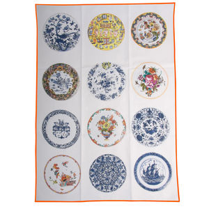 Tea Towel Antique Plates - home