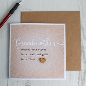 Grandmother… Gold In Her Heart, Card