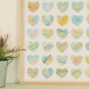 Map Hearts Print Poster