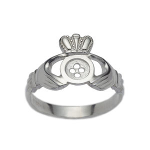 Traditional Button Style Claddagh Ring