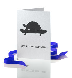 'Life In The Fast Lane' Greetings Card - new job cards