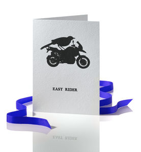 Easy Rider Greetings Card - retirement cards