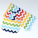 Bib And Burp Cloth Set 'Chevron'