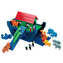 5. Small Noah's Ark - Blue with Red Roof