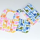 Bib And Burp Cloth Set 'Giraffes'